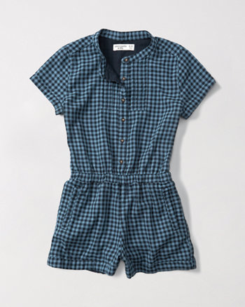 kids button-front romper