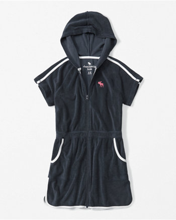 kids full-zip hooded cover up