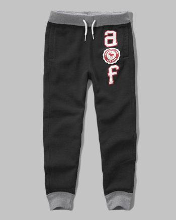 kids a&f logo fleece joggers