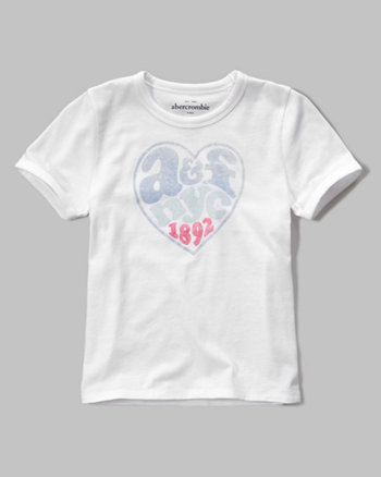 kids print logo graphic tee