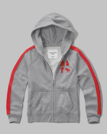 kids logo graphic full zip hoodie