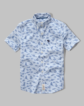kids short sleeve pattern shirt
