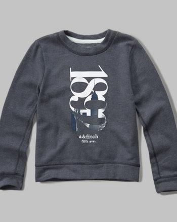 kids shine graphic crew sweatshirt