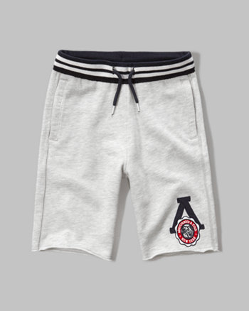 kids a&f fleece athletic shorts