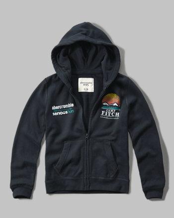 kids seriousfun graphic hoodie