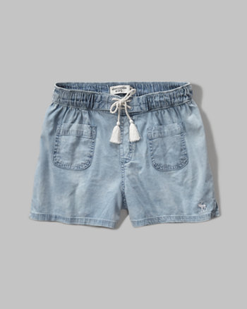 kids chambray soft shorts