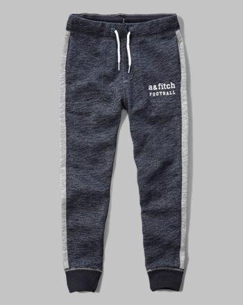 kids a&f contrast jogger sweatpants