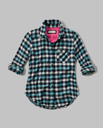 kids plaid flannel pocket shirt