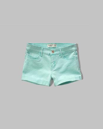 kids a&f shortie twill shorts