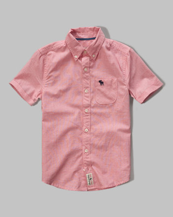 kids short sleeve pocket shirt