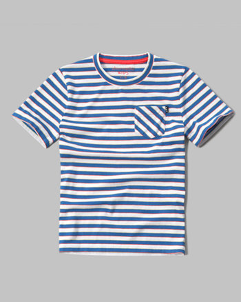 kids contrast pocket tee