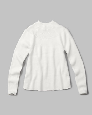 kids ribbed mock neck sweater