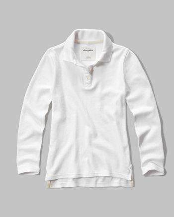 kids Long Sleeve Polo
