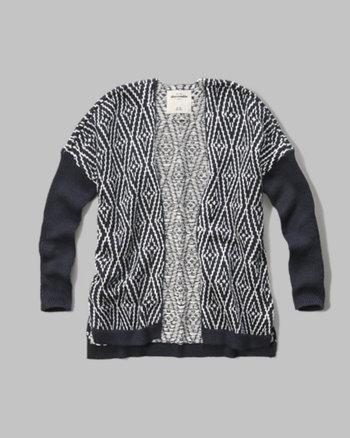 kids patterned cardigan sweater