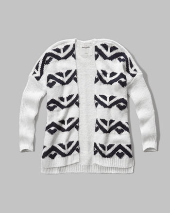 kids patterned cardigan sweater