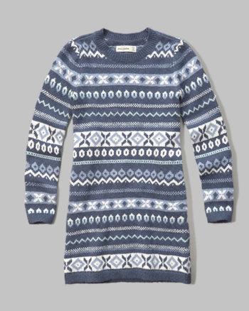 kids sweater shift dress