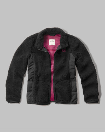 kids quilted sherpa jacket