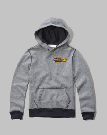 logo graphic pullover hoodie