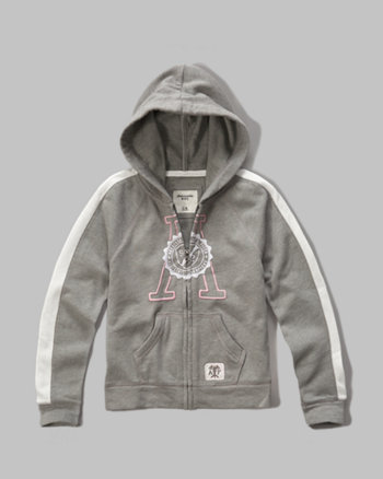 kids Striped Logo Full Zip Hoodie