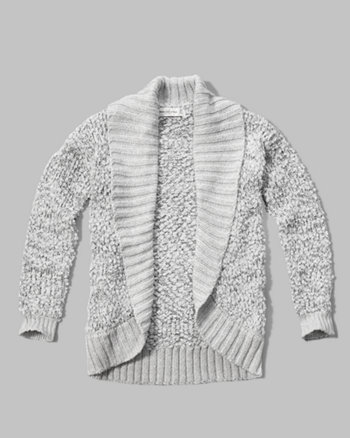 kids shine cocoon shawl sweater