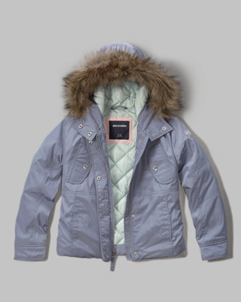 kids shine-luxe parka
