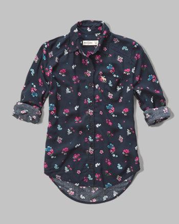 kids floral rayon shirt