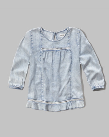 kids easy chambray top