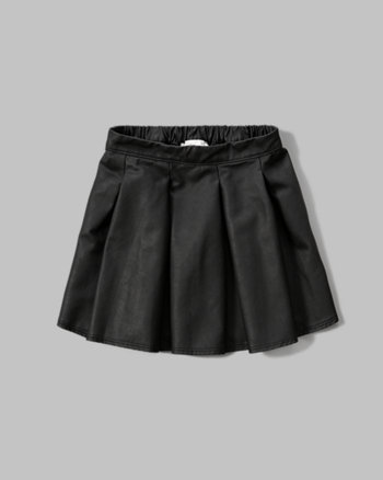 kids Faux Leather Skater Skirt
