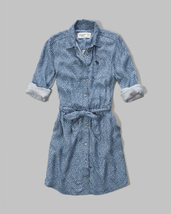 kids Patterned Shirt Dress