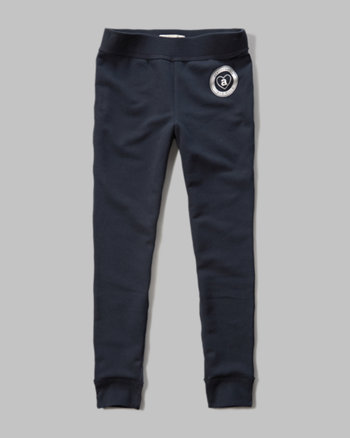 kids a&f fleece leggings