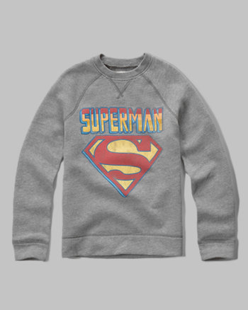 kids superman fleece sweatshirt