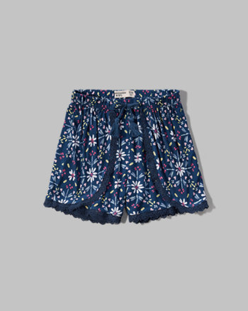 kids patterned tulip shorts