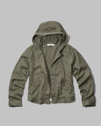 kids drapey twill jacket