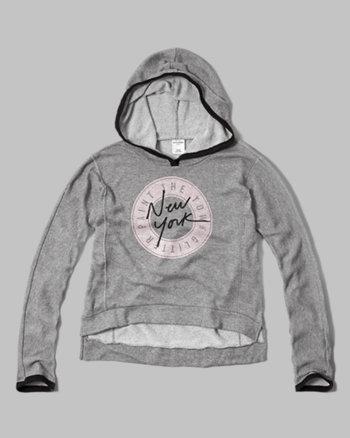 kids graphic hi-lo hoodie