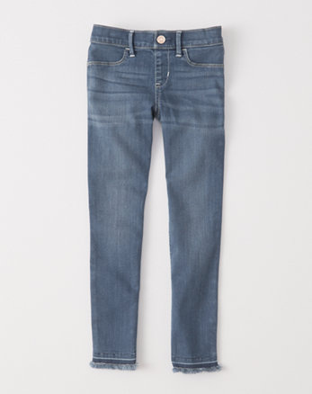 kids pull-on jean ankle leggings