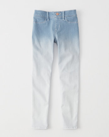 kids dip dye pull-on ankle jean leggings