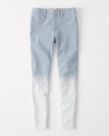 kids railroad pull-on jean leggings