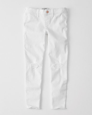kids ripped pull-on jean ankle legging