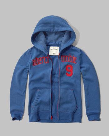 kids applique logo graphic hoodie