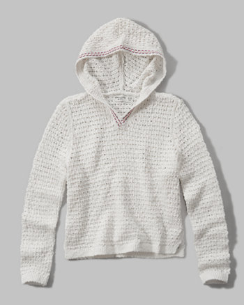 kids embroidered knit hoodie