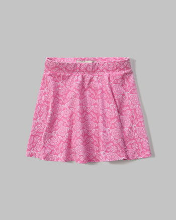 kids patterned skater skirt