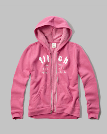 kids applique logo graphic hoodie