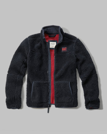 kids textured fleece jacket