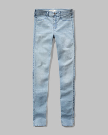 kids a&f high rise super skinny jeans