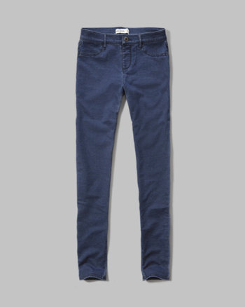 kids a&f pull-on jean leggings