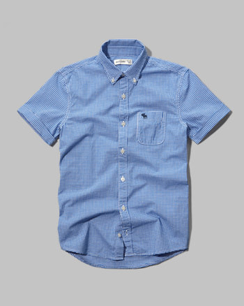 kids iconic short sleeve microcheck shirt