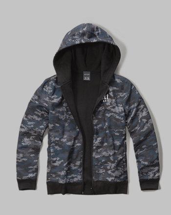 kids reversible full-zip hoodie
