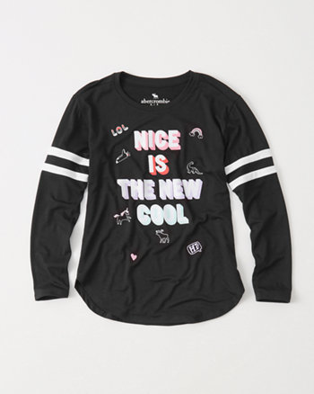 kids graphic raglan tee