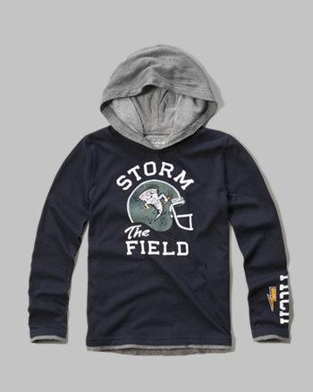 kids layered graphic hoodie