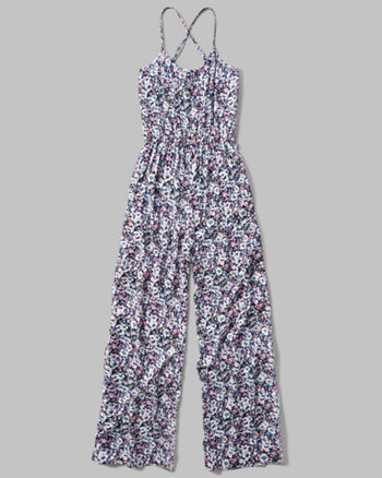 kids strappy wide leg jumpsuit